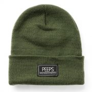 핍스[PEEPS]basic label beanie(khaki)