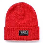 핍스[PEEPS]basic label beanie(red)