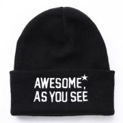 핍스[PEEPS]awesome beanie(black)