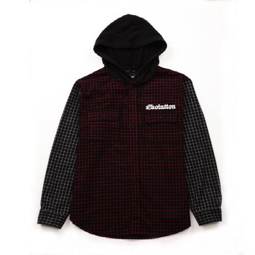 [에잇볼륨]EV Hooded Check Shirts