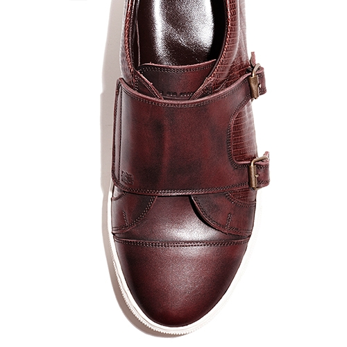 [암위] [AM.WE] BURGUNDY MONK SNEAKERS