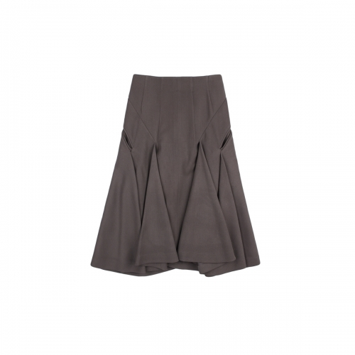 [BEONGLEE] WOOL FLARED SKIRT_BLF15-5007