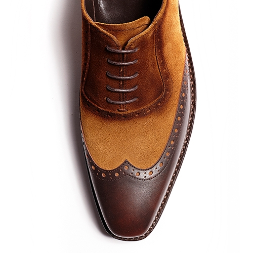 [암위] [AM.WE] LAST-5 BALMORAL WINGTIP SPREAD BROWN