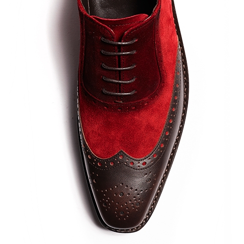 [암위] [AM.WE] LAST-5 BALMORAL WINGTIP SPREAD RED