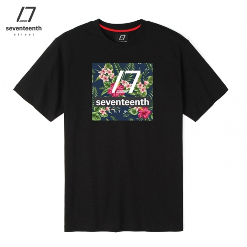 [SEVENTEENTH] FLORAL CLASSIC TEE - BLACK