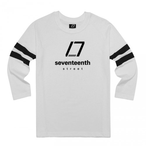 [SEVENTEENTH] STAN RUGBY 3 QTR TEE - WHITE