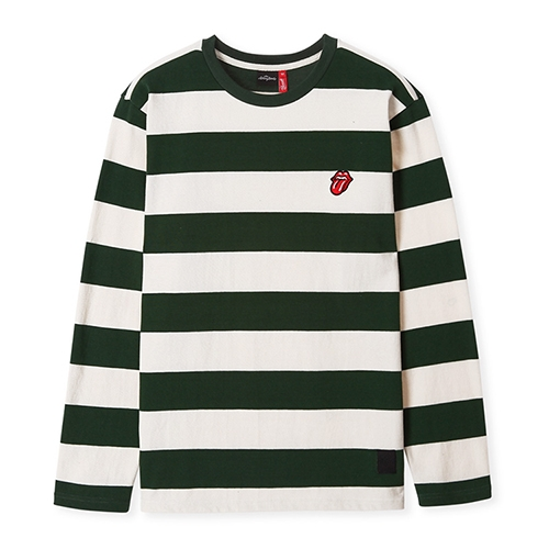 [브라바도] THE ROLLING STONES STRIPE BORDER T-SHIRTS GREEN