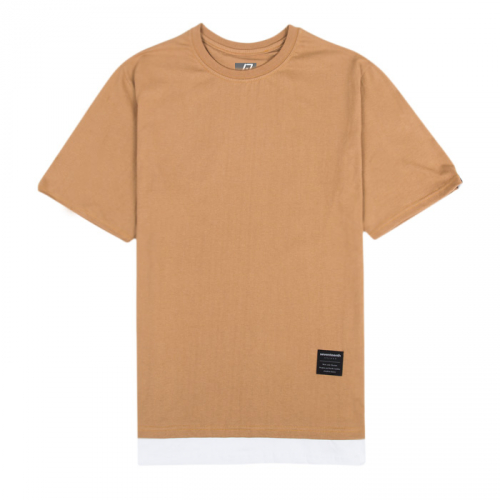 [SEVENTEENTH] SOLID LAYERED COTTON TEE - BEIGE