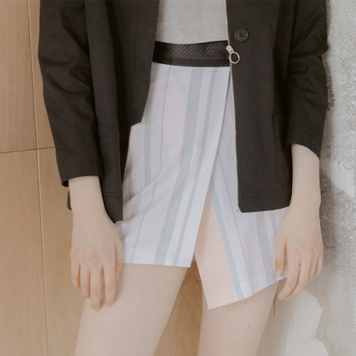 [블레어바이스퀘어] [blair by square] Wrap Skirt (Stripe)