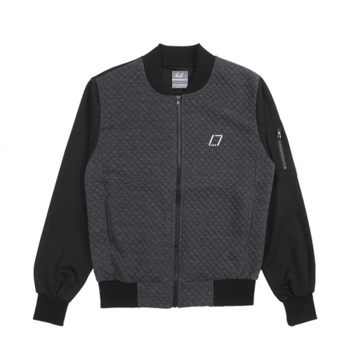 [SEVENTEENTH] DIAMOND BLOUSON JACKET - CHARCOAL