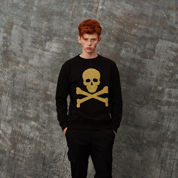 [수트팩토리] [수트팩토리]aero skull sweat shirt S16FJP-01BK
