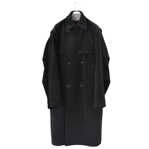 [칼이석태] [HAPBUQUE] 16 F/W ASYMMETRIC DOUBLE WOOL COAT