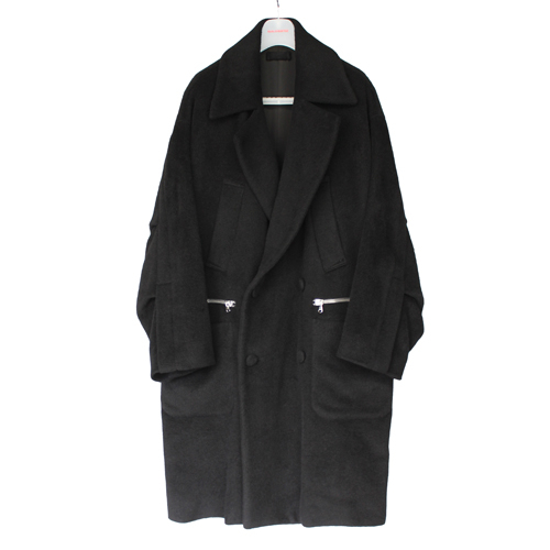 [칼이석태] [HAPBUQUE] 16 F/W ALPACA ZIPPER DOUBLE COAT