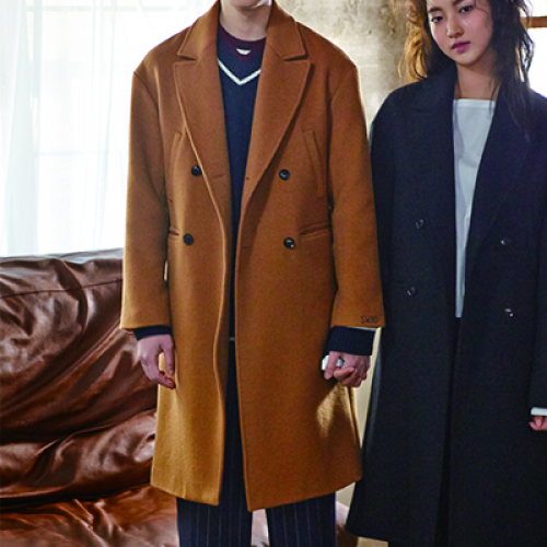 [소윙바운더리스] STRAIGHT FIT DOUBLE COAT(BROWN)