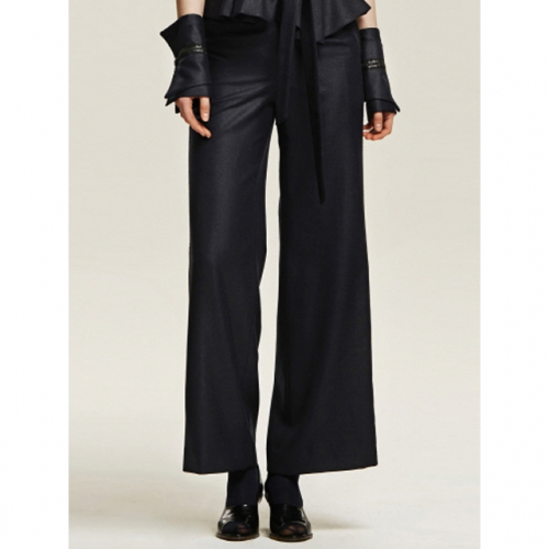 까이에 Side Trim Wide Pants