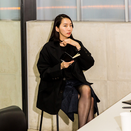 [유주얼에딧] Herringbone Oversuit Jacket (Black)