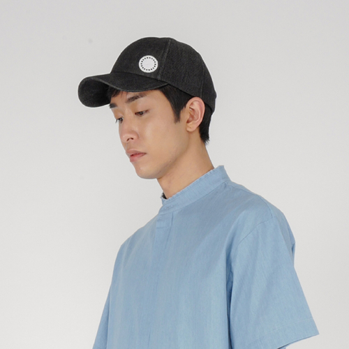 [로우투로우] [raw to raw] side wappen ballcap(denim)