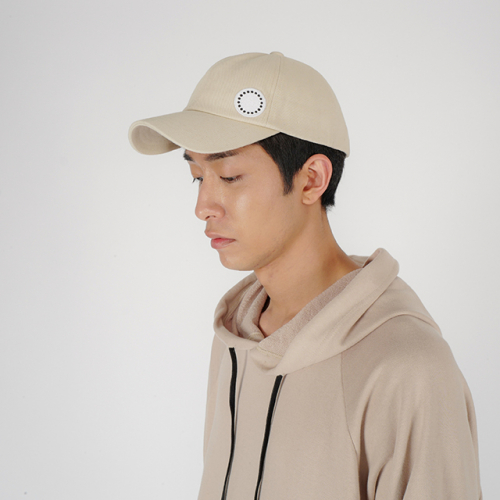 [로우투로우] [raw to raw] side wappen ballcap(light beige)