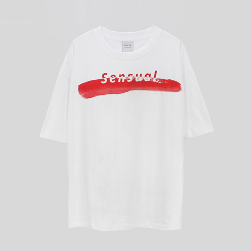 [애티클][ATICLE] Brush Touch Print T-shirt_WT