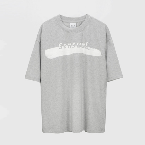 [애티클][ATICLE] Brush Touch Print T-shirt_MG