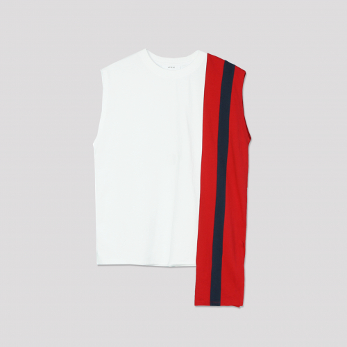 [애티클][ATICLE] Color Block Sleeveless Top_WT