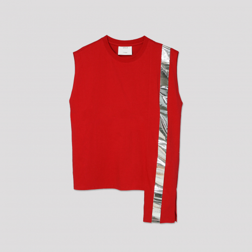 [애티클][ATICLE] Color Block Sleeveless Top_RD