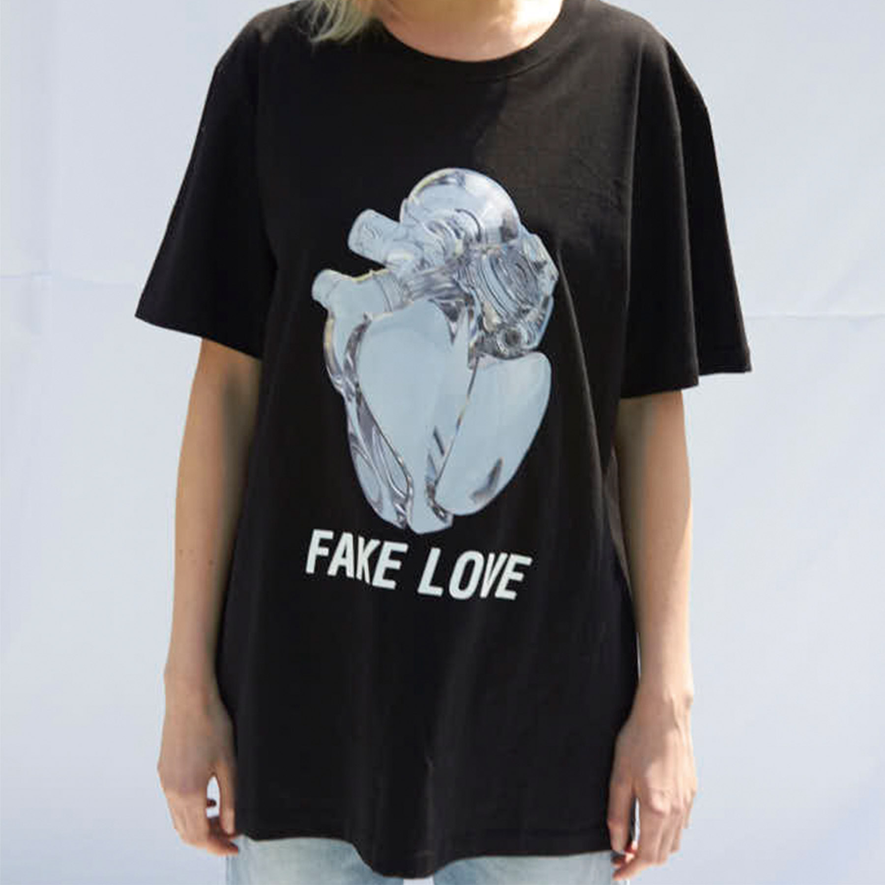 [슬링키] FAKE LOVE T-SHIRTS BLACK