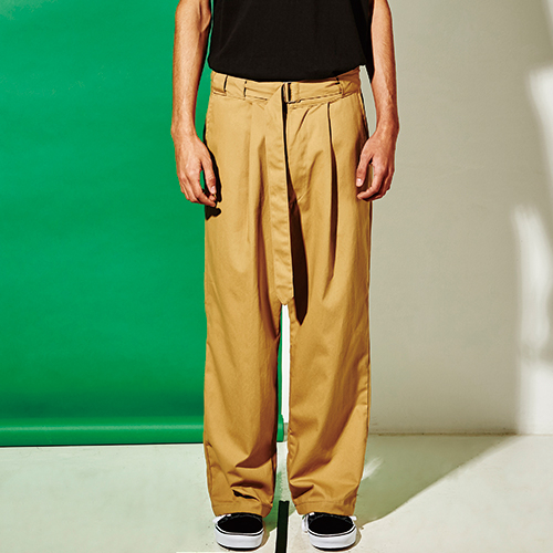 [엑스마이너스] BASIC WIDE PANTS BEIGE