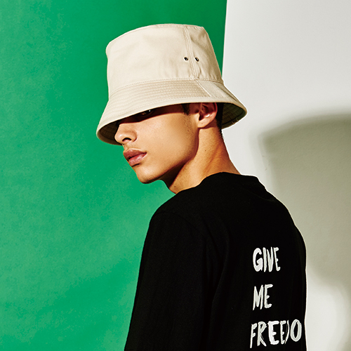 [엑스마이너스] BASIC BUCKETHAT BEIGE