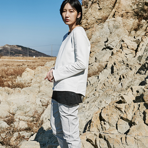 [프롬더예스터데이]COTTON PANTS WITH RAW EDGES DETAIL stone