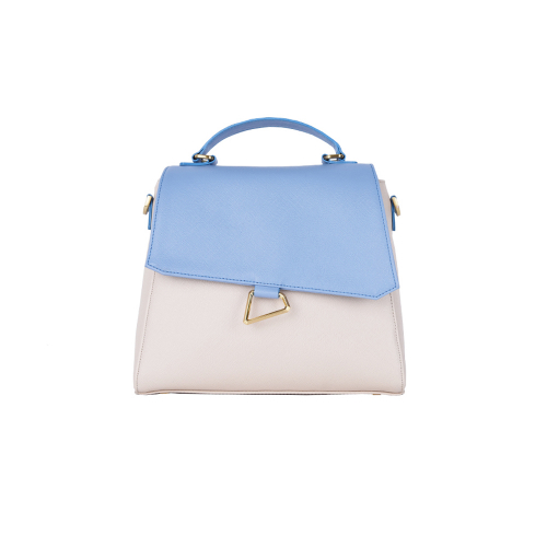 [HA.TISS] MEMORIAL BLUE BEIGE TOTE BAG