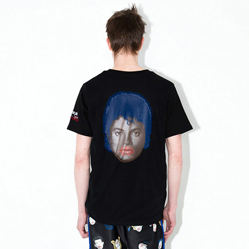 [브랜드명기입][LIPUNDERPOINT] NEVER DIE MICHAEL T-SHIRTS_BLACK