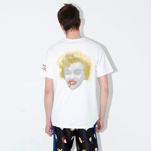 [브랜드명기입][LIPUNDERPOINT] NEVER DIE MARILYN T-SHIRTS_WHITE
