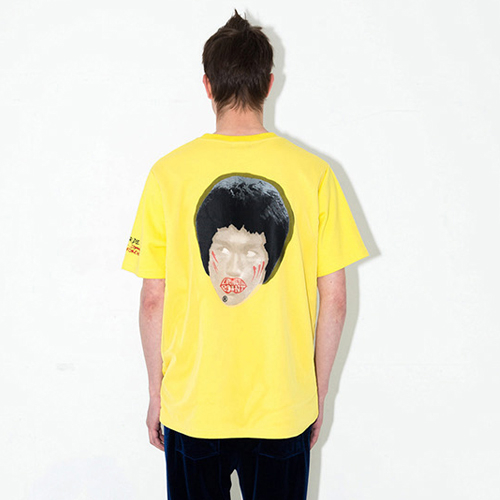 [브랜드명기입][LIPUNDERPOINT] NEVER DIE BRUCE T-SHIRTS_YELLOW