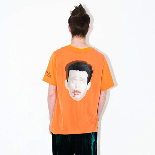 [브랜드명기입][LIPUNDERPOINT] NEVER DIE JAMES T-SHIRTS_ORANGE