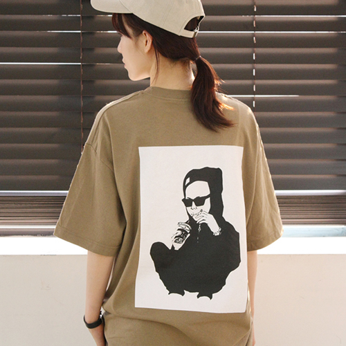 [어메이드][AMADE]  Printing Point Cotton Tee Brown