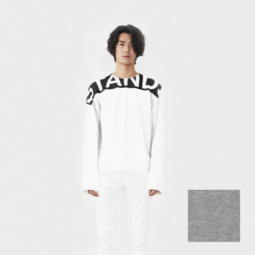 [srst] [에스알에스티] STANDS long sleeve shirts GREY