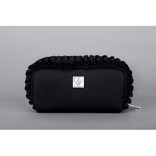 [헤이미스타타] salon pouch (black/black)