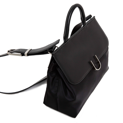 [유엠뉴욕] U SATCHEL - BLACK NYLON COMBI