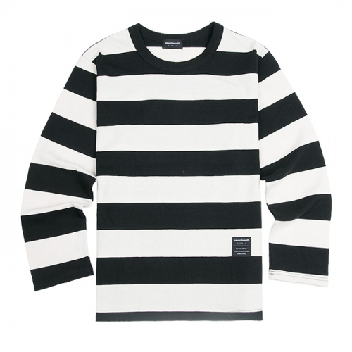 SEVENTEENTH BIG STRIPE LONG TSHIRTS BLACK