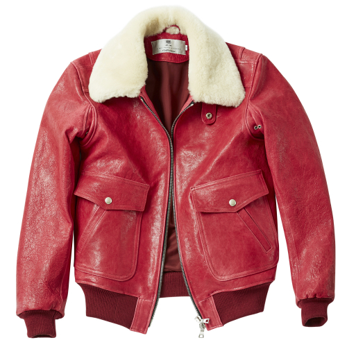 [암위] [AM.WE] Flight G-1 ZIP-UP RED_FUR