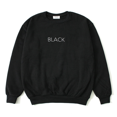 [어메이드][AMADE] COLOR SIMPLE SWEAT SHIRTS BLACK