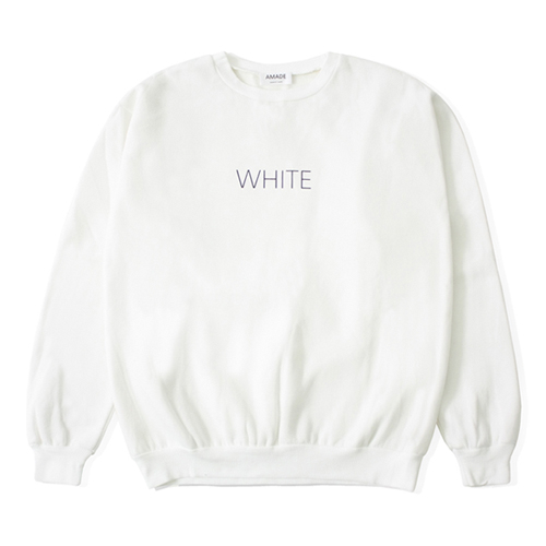 [어메이드][AMADE] COLOR SIMPLE SWEAT SHIRTS WHITE