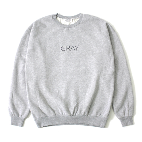 [어메이드][AMADE] COLOR SIMPLE SWEAT SHIRTS GRAY
