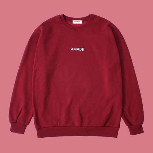 [어메이드][AMADE] WARM SWEAT SHIRTS RED