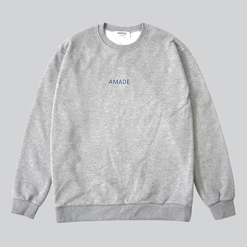 [어메이드][AMADE] WARM SWEAT SHIRTS GRAY