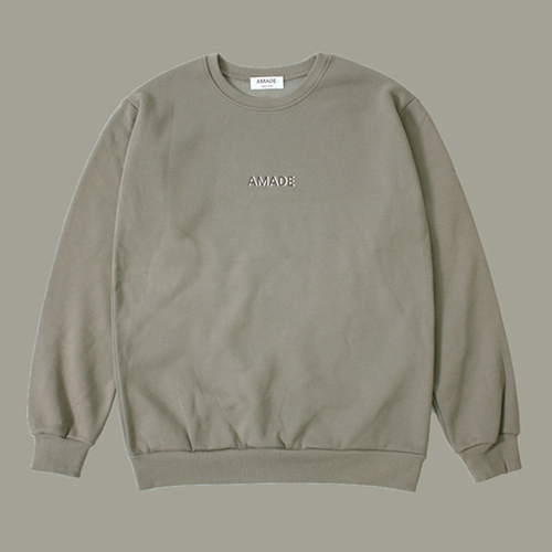 [어메이드][AMADE] WARM SWEAT SHIRTS MOCHA BEIGE