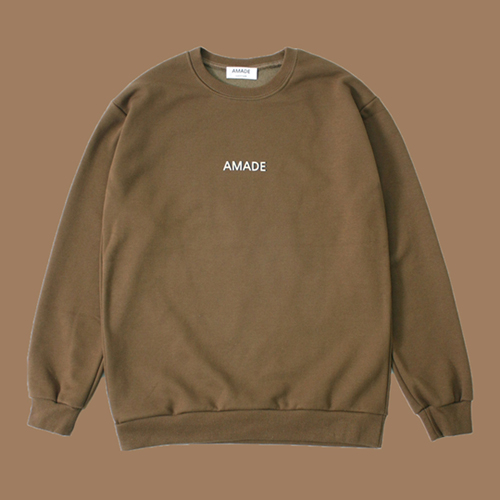 [어메이드][AMADE] WARM SWEAT SHIRTS BROWN