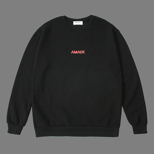 [어메이드][AMADE] WARM SWEAT SHIRTS BLACK