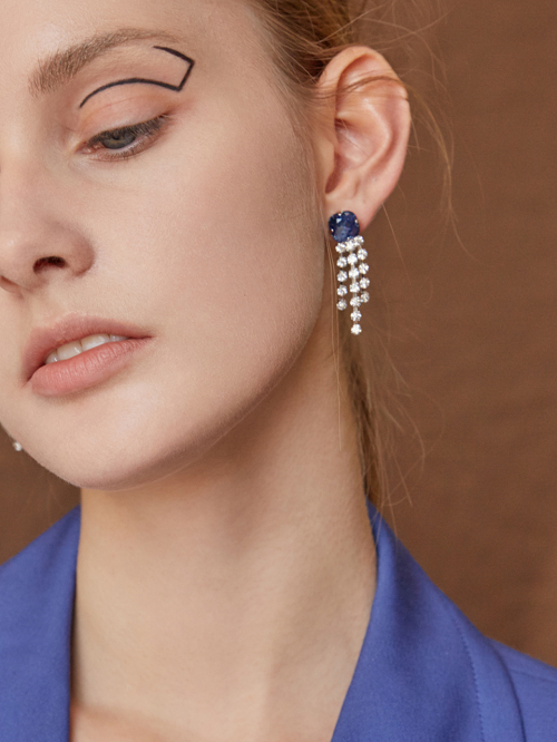 마티아스[MATIAS] Blue crystal drop earring